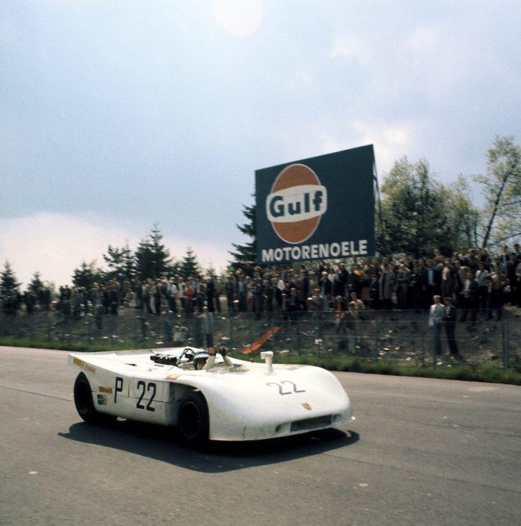 1970, Nürburgring (1,000 kilometre), Porsche Type 908/03 Spyder No. 22 (overall winner), Drivers: Vic Elford and Kurt Ahrens.