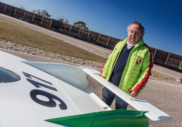 Kurt Ahrens behind the 917-001, the first built 917 from 1969.