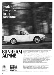 Sunbeam Alpine Ad