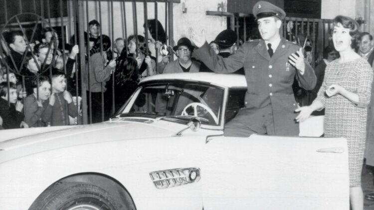 Elvis in white BMW