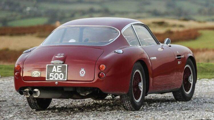 back of Aston Martin DB4