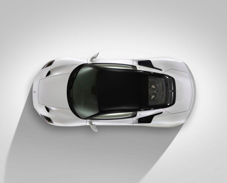 birdeye view of Maserati MC20