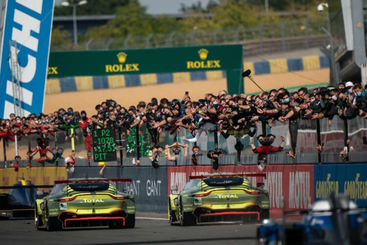 Finishing first for Aston Martin