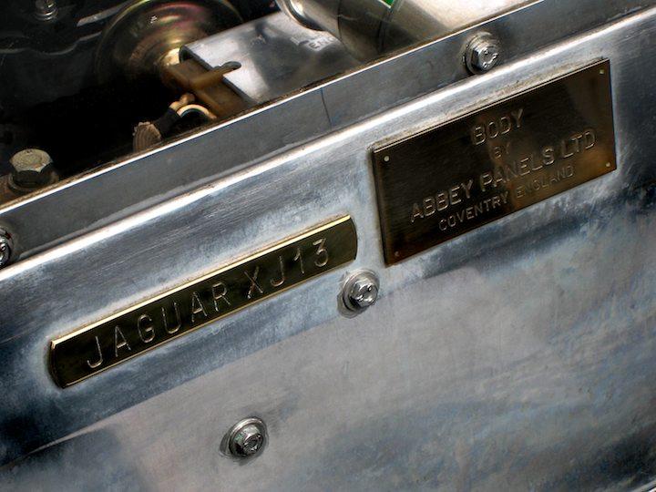 Jaguar XJ13 plates