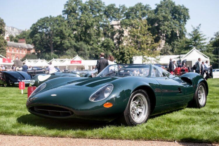 front of jaguar XJ13