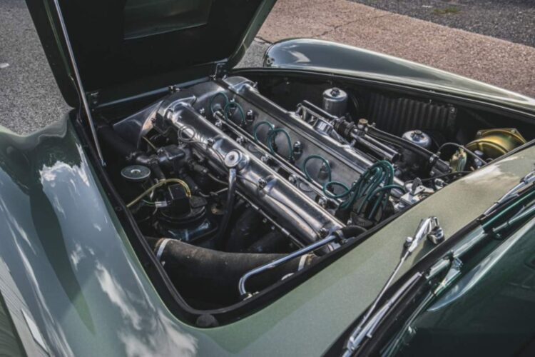 engine of 1960 Aston Martin DB4 Series II Coupe