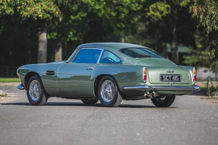 rear of 1960 Aston Martin DB4 Series II Coupe