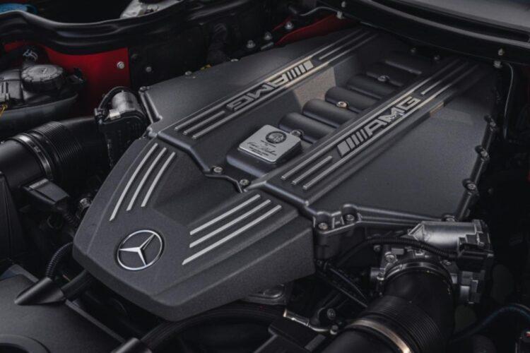 engine of 2011 Mercedes-Benz SLS AMG