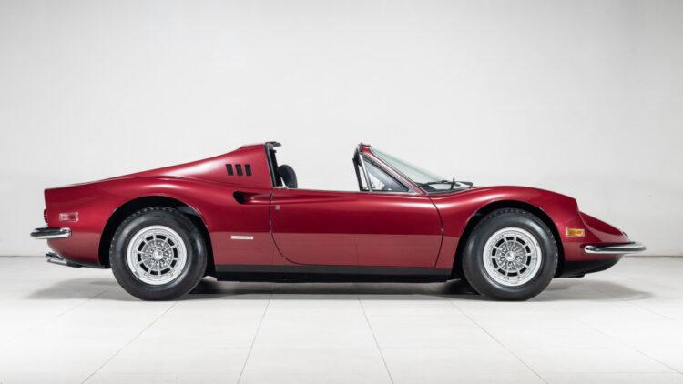 side of 1974 Ferrari Dino 246 GTS