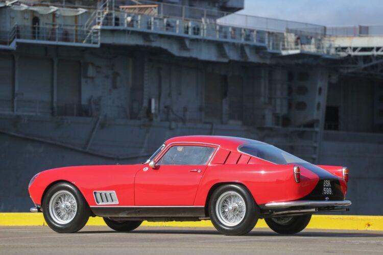side of 1958 Ferrari 250 GT LWB Berlinetta Tour de France