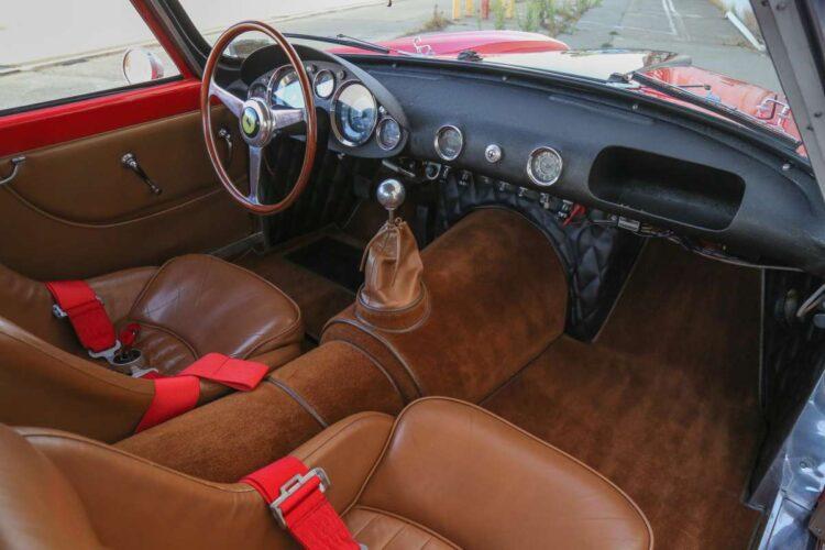 interior of 1958 Ferrari 250 GT LWB Berlinetta Tour de France