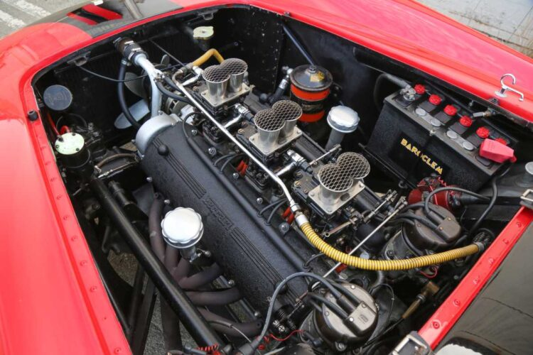 1958 Ferrari 250 GT LWB Berlinetta Tour de France engine