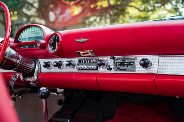 interior of 1955 Ford Thunderbird