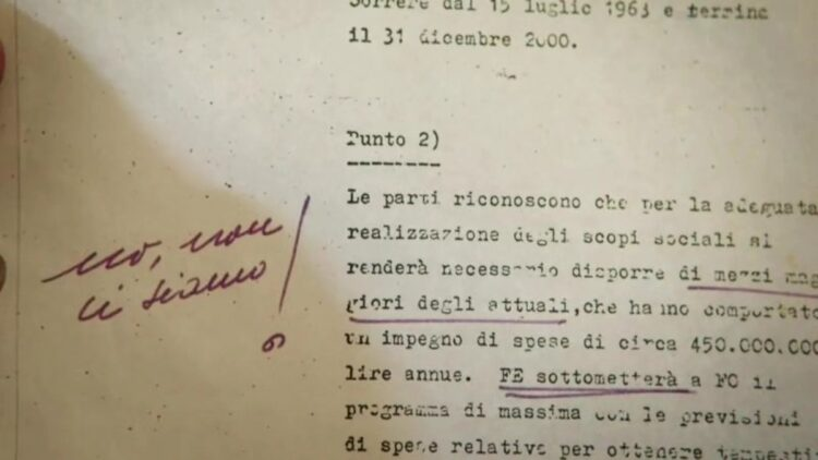 Contract of Ferrari with Ford