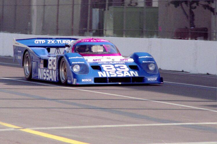 racing the 1990 Nissan NPT-90