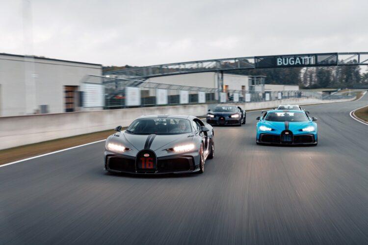 front of Bugatti Chiron Pur Sport