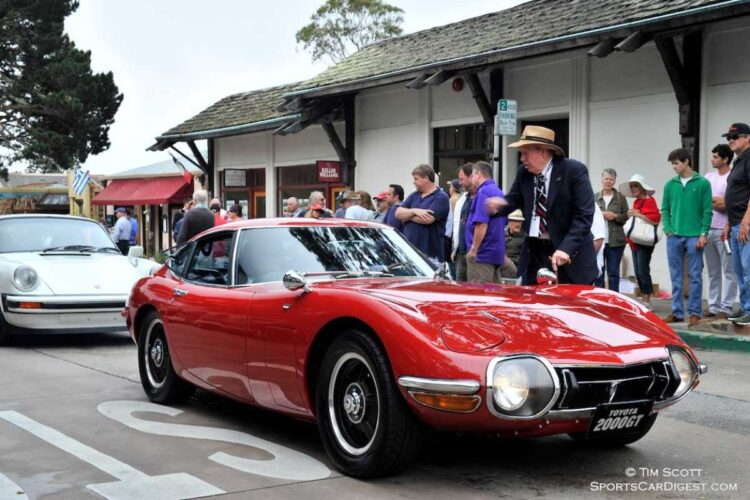 red Toyota 2000GT
