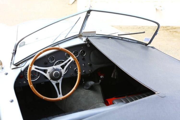 interior of 1957 AC Bristol Roadster