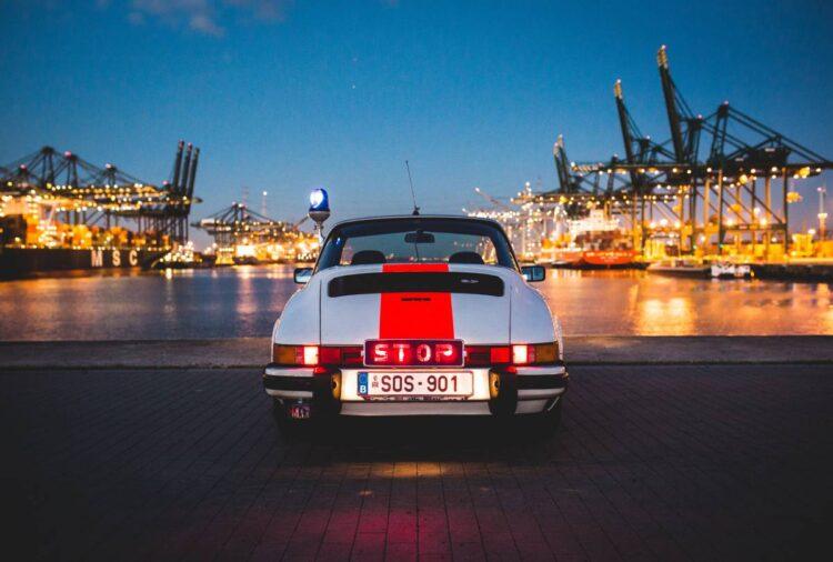 back of 1976 Porsche 911 Carrera 2.7 MFI Targa