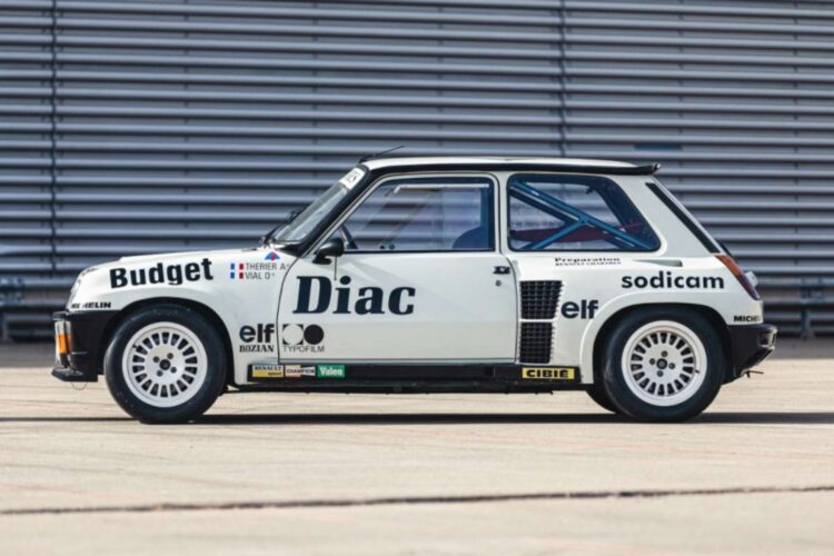 side of 1982 Renault 5 Turbo Group 4