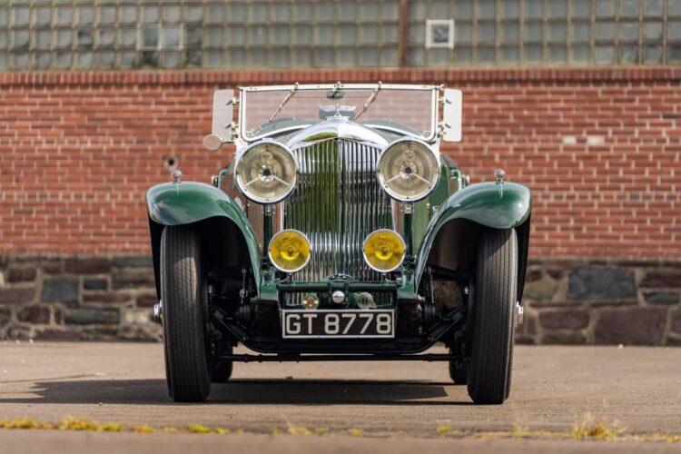 front of 1930 Bentley 8-Liter Tourer