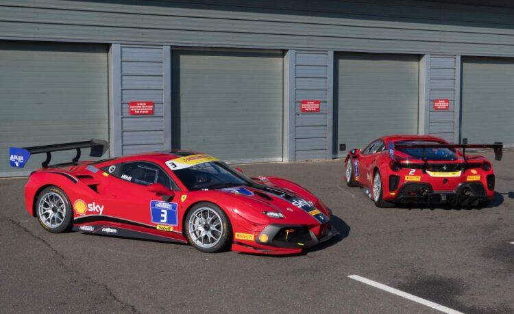 Ferrari 488 Challenge Evo side profile