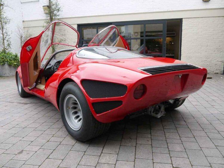Alfa Romeo dihedral doors opened
