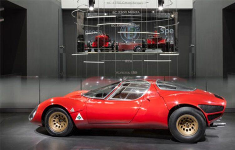 Alfa Romeo Exhibition- Museo Storico Alfa Romeo in Arese. Source Museo Storico Alfa Romeo