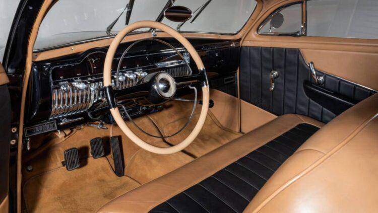 interior of 1951 Mercury Custom Coupe