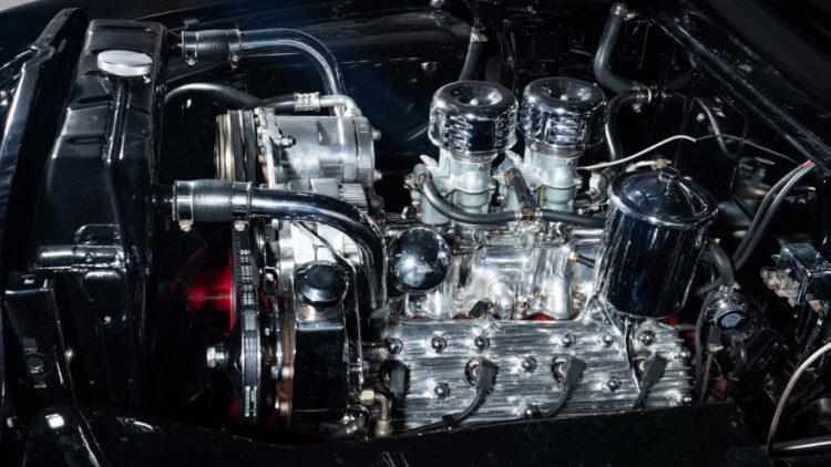engine of 1951 Mercury Custom Coupe