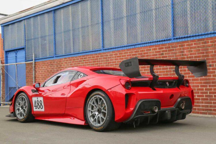 rear photo of Ferrari 488 Challenge Evo