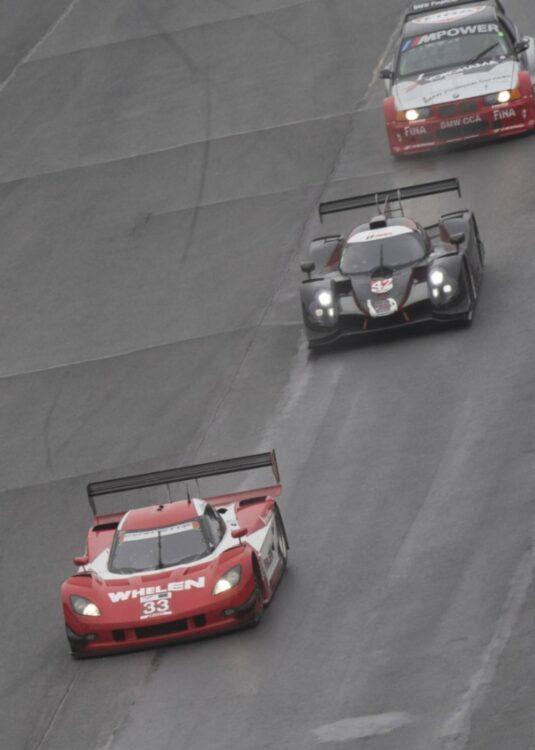 ohn Reisman in his Coyote Corvette DP leads Hanna Zellers 2017 Ligier LMP3