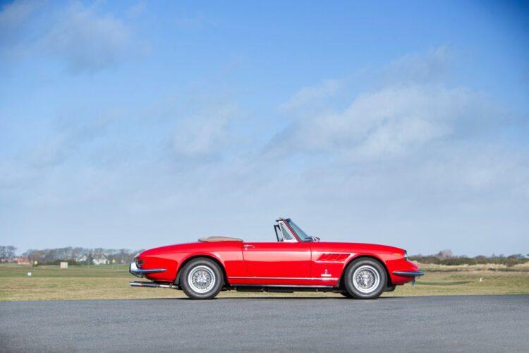 side profile of 1967 Ferrari 330 GTS