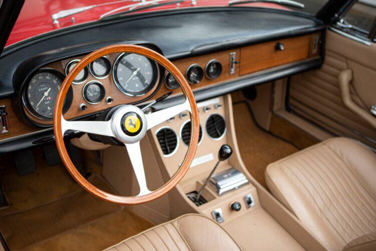 interior of 1967 Ferrari 330 GTS