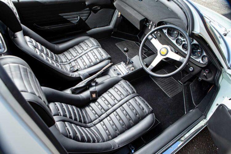 interior of 1974 Dino 246 GTS Coupe