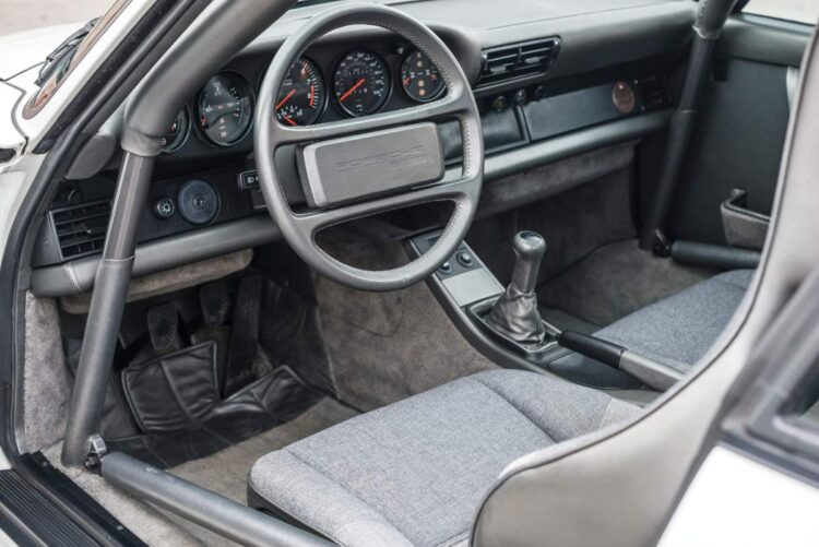 Interior of sport car