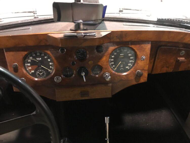 walnut veneer of 1953 Jaguar XK 120 Fixed Head Coupe