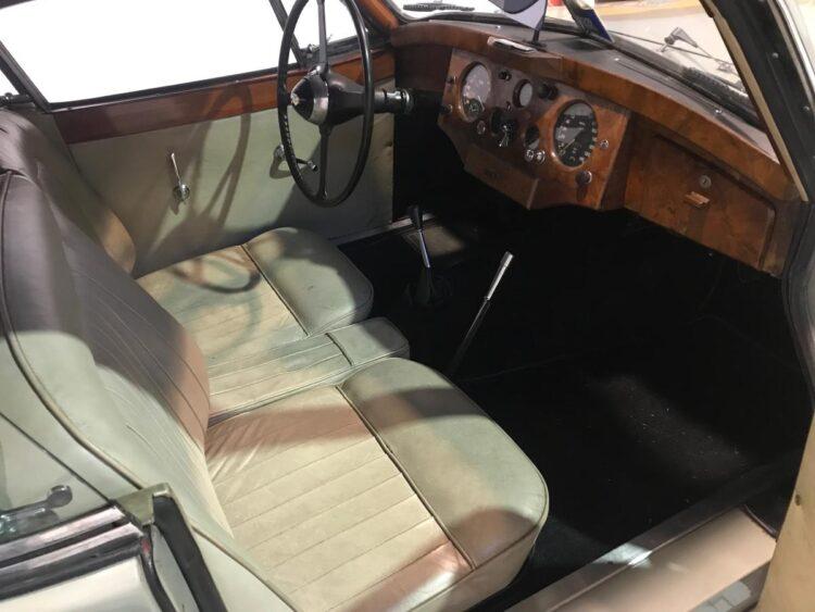 interior of 1953 Jaguar XK 120 Fixed Head Coupe