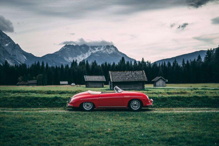 side of 1955 Porsche 356 Carrera 1500 GS Speedster