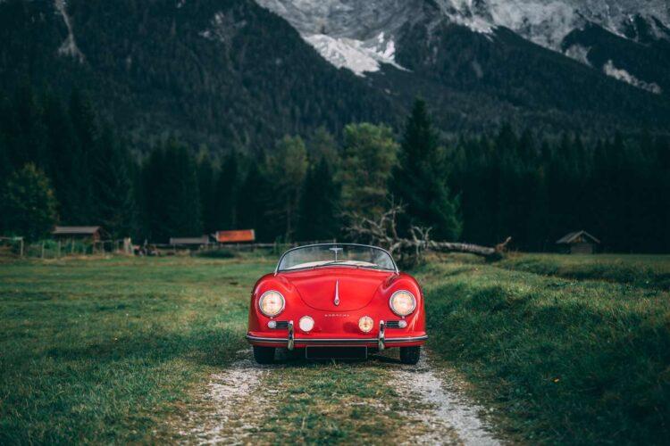 front of 1955 Porsche 356 Carrera 1500 GS Speedster