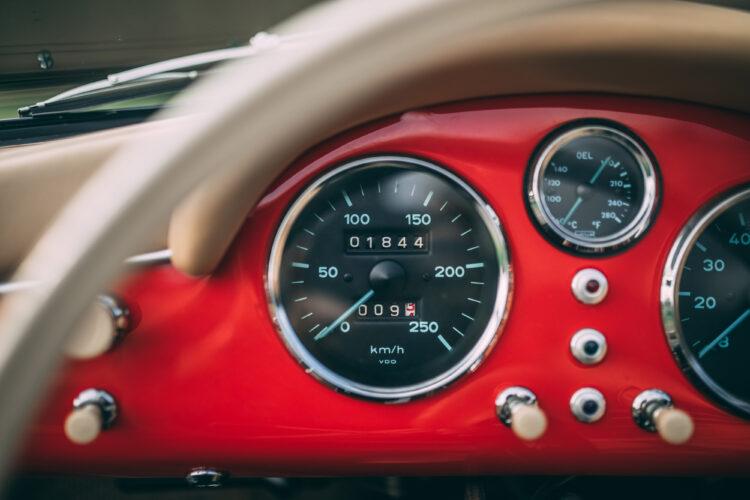 dashboard of 1955 Porsche 356 Carrera 1500 GS Speedster