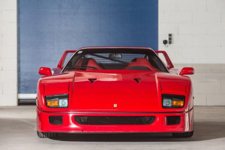 front of 1990 Ferrari F40