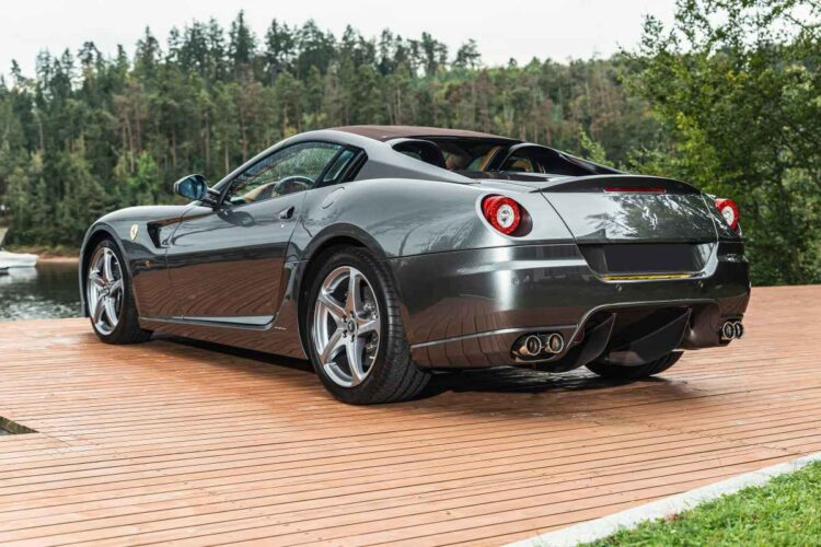 back of 2011 Ferrari 599 SA Aperta