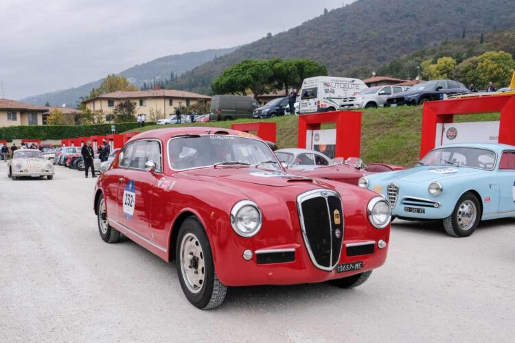 Stefano Macaluso and Lucia Rota in the 1953 Lancia Aurelia B20 GT