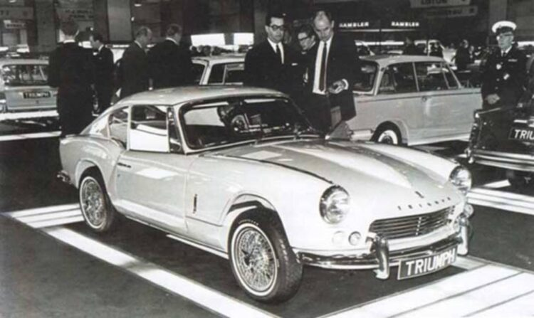 Triumph GT6 Displayed at Earls Court in 1966