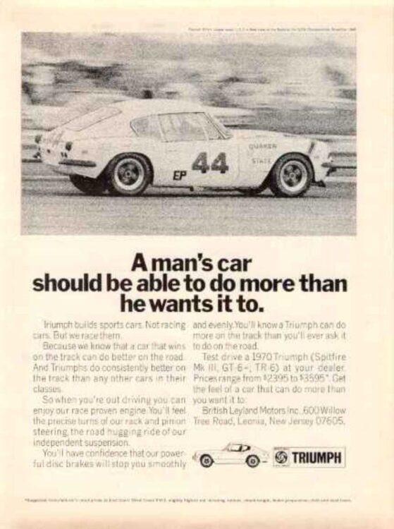 Triumph advertisement