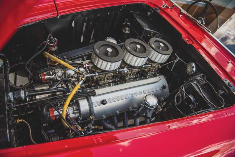 engine of 1952 Ferrari 225 S Berlinetta by Vignale