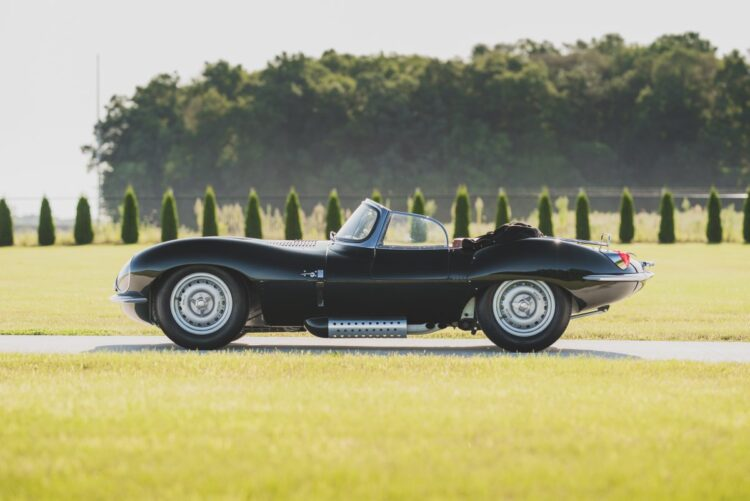 side profile of the 1957 Jaguar XKSS Continuation