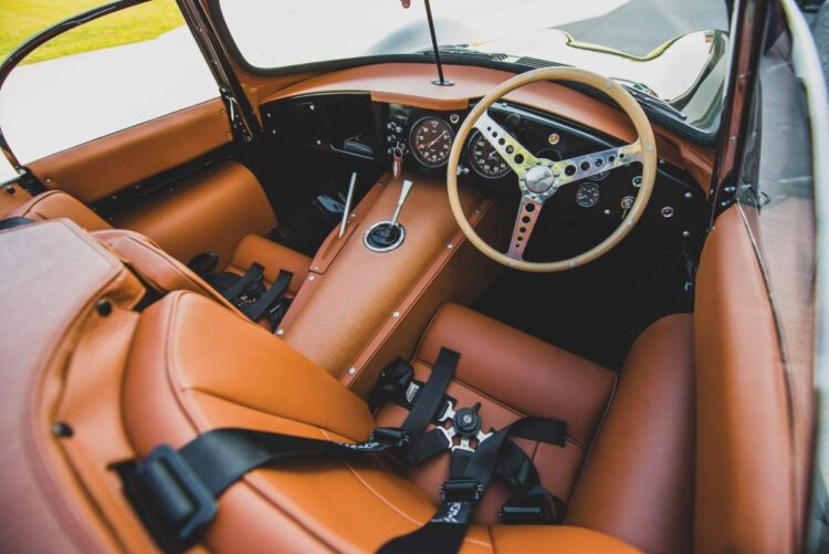 interior of the 1957 Jaguar XKSS Continuation