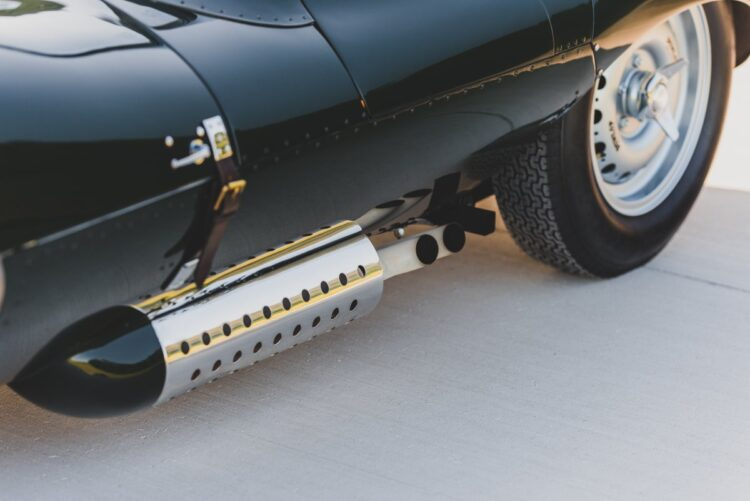 exhaust of the 1957 Jaguar XKSS Continuation
